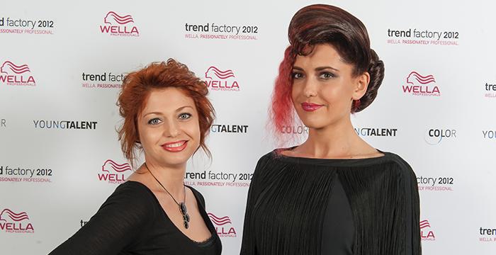 Irina Honicker und Model stehend